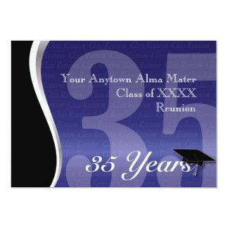 "Customizable 35 Year Class Reunion 5"" X 7"" Invitation Card"