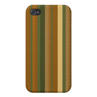 Customizable 4G I Vintage stripes Case For The iPhone 4