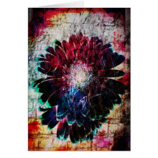 Customizable Abstract Gerbera Daisy Card