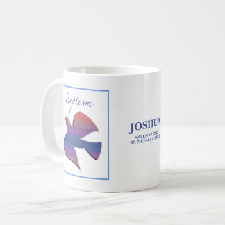 Customizable, Adult Baptism Dove Coffee Mug