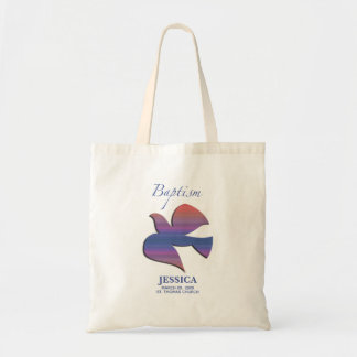 Customizable, Adult Baptism Dove Tote Bag