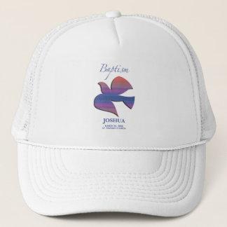 Customizable, Adult Baptism Dove Trucker Hat
