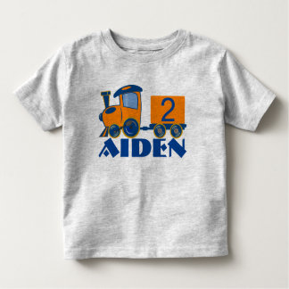 Customizable Age Birthday Train Toddler T-Shirt