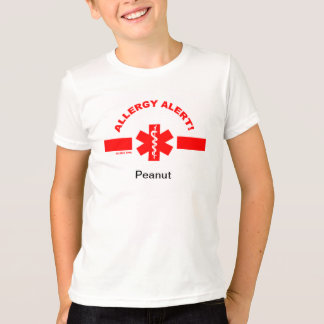 Customizable Allergy Alert KIDS SHIRT