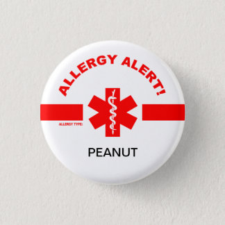 Customizable Allergy Alert Pin