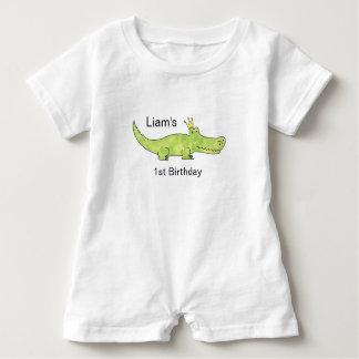 Customizable Alligator 1st Birthday Romper Baby Bodysuit