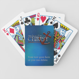 Customizable Anchored in Christ Playing Cards