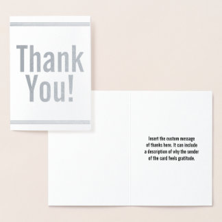 """Customizable and Basic """"Thank You!"""" Card"""