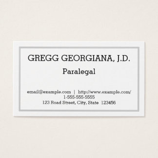Customizable and Minimal Paralegal Business Card