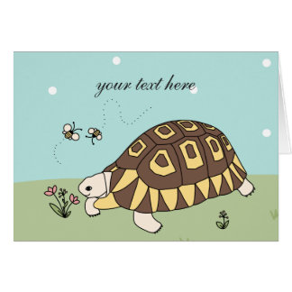 Customizable Angulate Tortoise Card