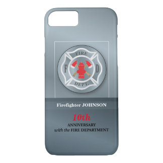 Customizable, Anniversary with Fire Department iPhone 8/7 Case