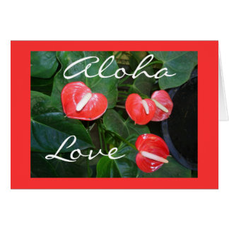 Customizable Anthurium Love Floral Greeting Card