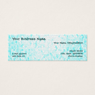 Customizable Aqua Mosaic Skinny Business Cards