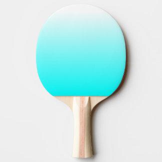 Customizable Aqua Ombre Ping Pong Paddle