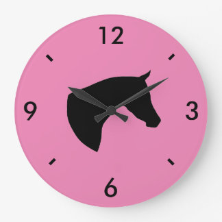 Customizable Arabian Horse Head Wall Clock