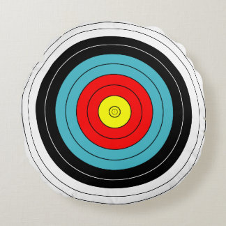 Customizable Archery Target Round Cushion