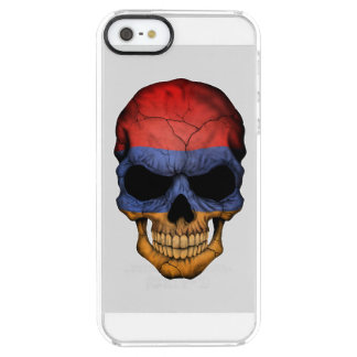 Customizable Armenian Flag Skull Clear iPhone SE/5/5s Case
