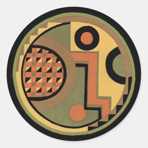 Customizable Art Deco Geometric Circle Abstract Stickers