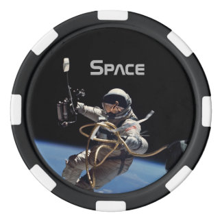 Customizable Astronaut Space Walk Poker Chips