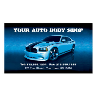 CUSTOMIZABLE Auto Body Mechanic Car Detailing Business Card Template