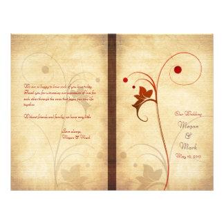 Customizable Autumn Wedding Program 21.5 Cm X 28 Cm Flyer