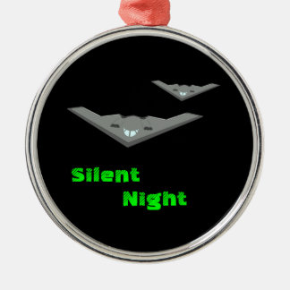 Customizable B2 Stealth Bomber Flying Silent Night Metal Ornament