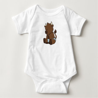 Customizable Baby Bison Baby Bodysuit