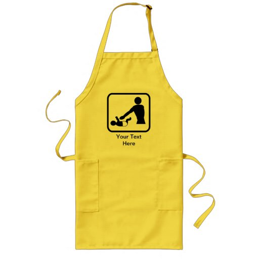 Customizable Baby Change Logo for a New Dad Apron