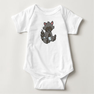 Customizable Baby Raccoon Baby Bodysuit