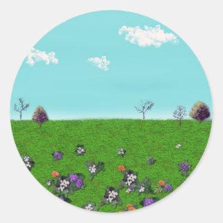 Customizable background (1) round sticker