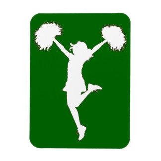 Customizable Background Cheerleader Cheerleading Magnet