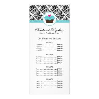 Customizable Bakery Price List Rack Card