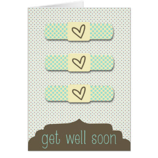 Customizable Bandaid Get Well Soon Greeting Card
