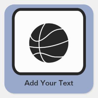 Customizable Basketball Logo Square Sticker