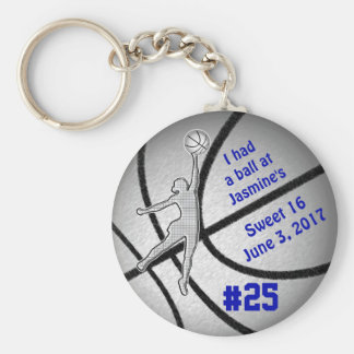 Customizable Basketball Party Favors for Girls Key Ring