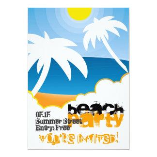 Customizable beach party invitation