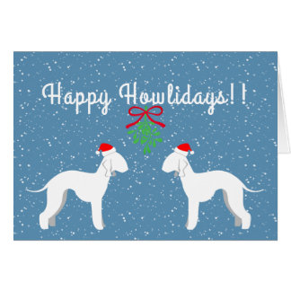 Customizable Bedlington Terrier Holiday Card