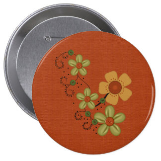 Customizable Bee and Floral Cards Postage etc Pinback Buttons
