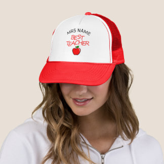 Customizable Best Teacher Hat