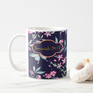 Customizable Bible Verse Floral Mug