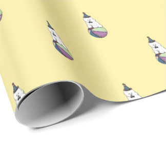 Customizable Bichon Frise Gift Wrapping Paper