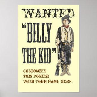 Customizable Billy the Kid Print