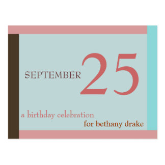 Customizable Birthday Invitation I Postcard