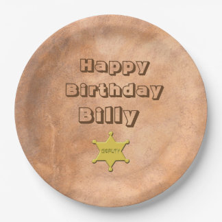 CUSTOMIZABLE BIRTHDAY PAPER PLATE