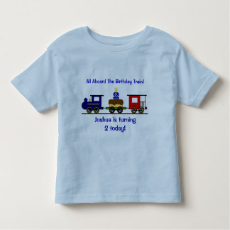 Customizable Birthday Train Shirt