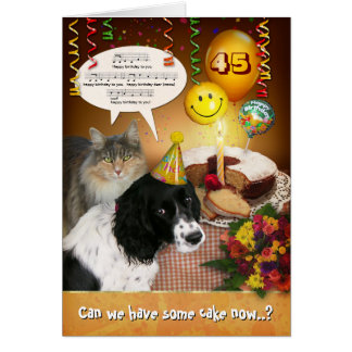(Customizable) Birthday with Pets Card