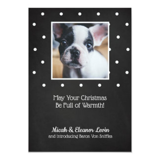 CUSTOMIZABLE Black and White Dots Card