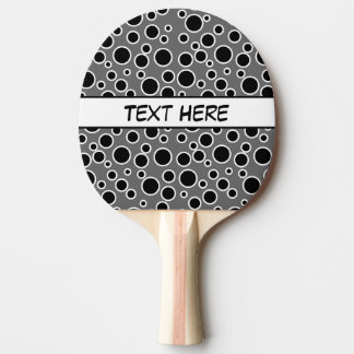Customizable Black and White Dots Ping Pong Paddle