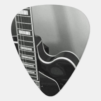 Customizable Black and White Guitar Pick