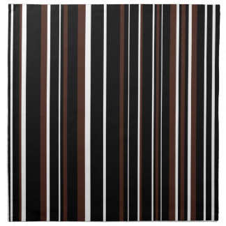 Customizable Black, Brown, & White Stripe Napkin